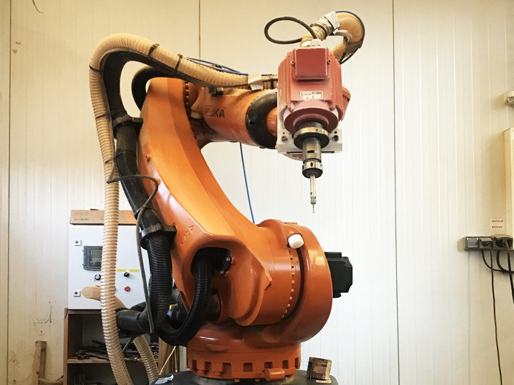 Robot d'usinage 7 axes