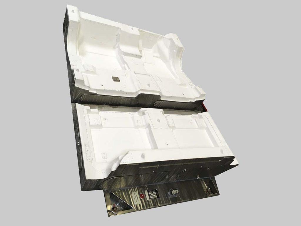 Support découpe jet d'eau tapis avant + arrière